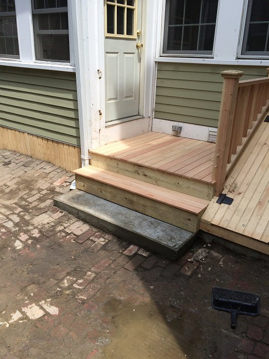 Deck Wooden Cellar Doors In Charlestown